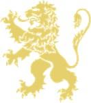 Gold Lion Rampant