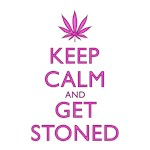 Keep Calm Get Stoned Purple