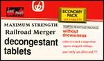 Railroad Merger decongestant tablets