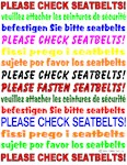 *NEW DESIGN* Seatbelts Please!