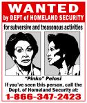 WANTED: Pinko Pelosi