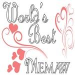 Best Memaw (Pink Hearts)