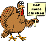 Protesting Turkey: Eat more chicken