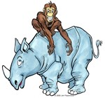 Chimp on Rhino
