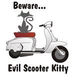 Evil Scooter Kitty Lambretta