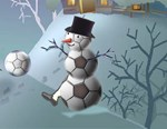 soccer horizontal snowman section