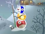 Billiards ball horizontal snowman section