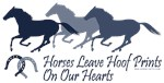Horses Leave Hoof Prints On Our Hearts Saying