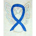 Blue Awareness Ribbon Angel