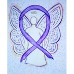 Violet Awareness Ribbon Angel