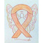 Peach Ribbon Angel