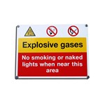 Danger Explosive Gases