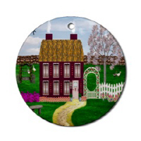 Irish Village Series© Oval & Round Ornaments