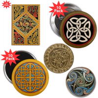 Celtic Magnets & Pin Buttons