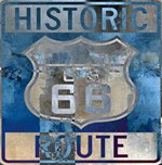 Historic Route 66 Road Sign Grunge Texture