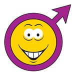 Male Symbol Smiley Face