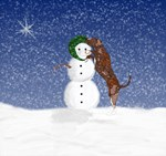 Catahoula and Snowman
