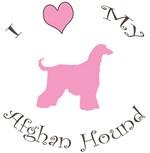 I Love My Afghan Hound Pink