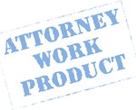 Attorney Work Product Stamp (Blue)