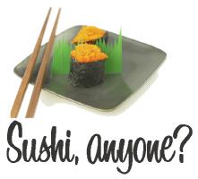 Sushi Anyone? Cool T Shirts Gifts Cards