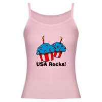 4th of July Cupcakes USA Rocks Patriotism T Shirts