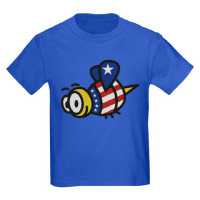 Patriotic Stars and Stripes Honey Bee T Shirts