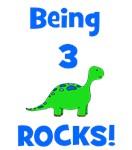 Being 3 Rocks! Dinosaur