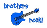 Brothers Rock! Blue Guitar
