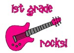 1st Grade Rocks! Guitar MORE COLORS AVAILABLE