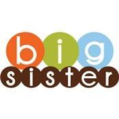 mod circles big sister shirt simple
