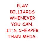 a great billiards joke on gifts and t-shirts.