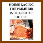 horse racing joke on gifts and t-shirts.