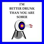 archery joke on gifts and t-shirts.