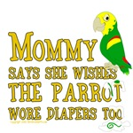 Mommy Says She Wishes The Parrot Wore Diapers Too