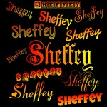 Sheffey Fonts - 9676 - Orange, red and yellow