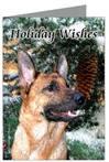 German Shepherd Holiday Wishes