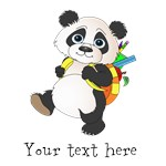 Personalize It - Panda Bear with backpack