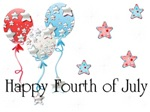 Happy Fourth of July - Balloons