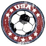 USA Soccer (distressed)