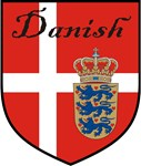 Danish Flag Crest Shield