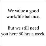 A work/life balance
