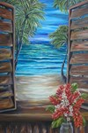 Caribbean Shutter with Red Ginger