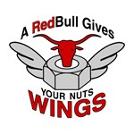 A Red Bull Gives Nuts Wings