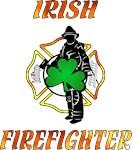Irish Firefighter Shamrock T-Shirts and Gift Ideas