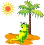 Iguana With Sunglasses
