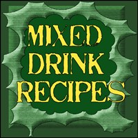 MIXED DRINKS RECIPES /ALCOHOL/BOOZE/BARTENDER GIFT