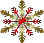 Gold and Red Snowflake