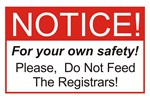 Notice / Registrars