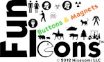 Fun Icons Buttons & Magnets
