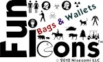 Fun Icons Bags & Wallets